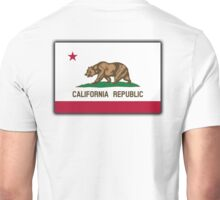 CALIFORNIA, Californian Flag, Flag of California, California Republic, America, The Bear Flag, State flags of America, American, USA, on WHITE Unisex T-Shirt