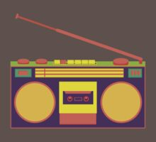 boombox - old cassette - Devices One Piece - Short Sleeve