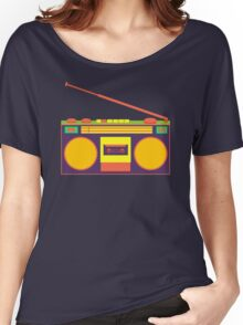 boombox - old cassette - Devices Women's Relaxed Fit T-Shirt