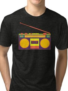 boombox - old cassette - Devices Tri-blend T-Shirt