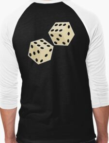 LUCK, LUCKY, DOUBLE SIX, DICE, Throw the Dice, Casino, Game, Gamble, CRAPS Men's Baseball ¾ T-Shirt
