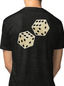 LUCK, LUCKY, DOUBLE SIX, DICE, Throw the Dice, Casino, Game, Gamble, CRAPS Tri-blend T-Shirt