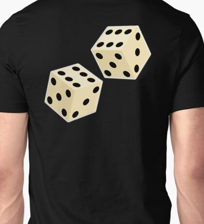 LUCK, LUCKY, DOUBLE SIX, DICE, Throw the Dice, Casino, Game, Gamble, CRAPS Unisex T-Shirt