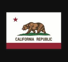 CALIFORNIA, Californian Flag, Flag of California, California Republic, America, The Bear Flag, State flags of America, American, USA, on BLACK Kids Clothes