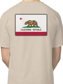 CALIFORNIA, Californian Flag, Flag of California, California Republic, America, The Bear Flag, State flags of America, American, USA, on BLACK Classic T-Shirt