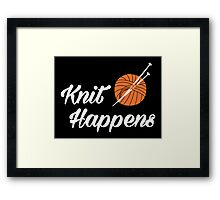 Knit happens Framed Print