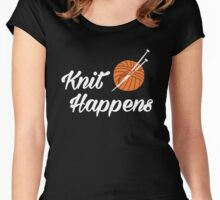 Knit happens Women's Fitted Scoop T-Shirt
