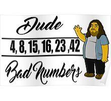 Lost- Hugo numbers Poster