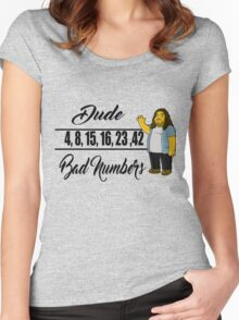 Lost- Hugo numbers Women's Fitted Scoop T-Shirt