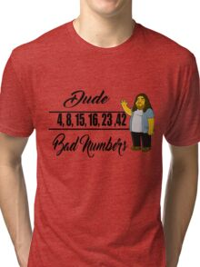 Lost- Hugo numbers Tri-blend T-Shirt
