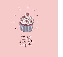 cute illustration with a cupcake by NineHomes