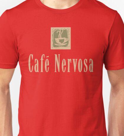Cafe Nervosa sign – Frasier, Seattle Unisex T-Shirt