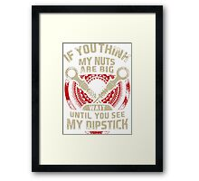 Mechanic Tshirt If You Think My Nuts Are Big Wait Until You See My Dipstick Framed Print