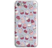 cute hand drawn pattern with cupcakes iPhone Case/Skin