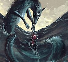 Little Red Riding Hood in the Sea by leevolt