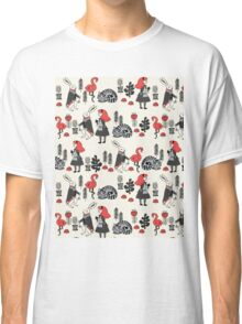 Alice in Wonderland print pattern kids children nursery cute baby Andrea Lauren  Classic T-Shirt