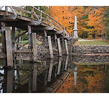 Autumn at the Old North Bridge, Concord, Massachusetts Photographic Print