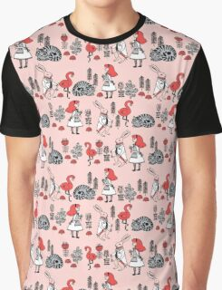 Alice in Wonderland print pattern kids children nursery cute baby Andrea Lauren  Graphic T-Shirt
