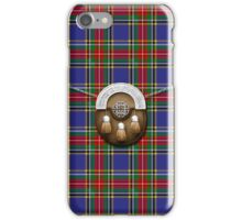 Clan MacBeth Tartan And Sporran iPhone Case/Skin