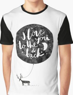 hand drawn cute illustration with a deer, ballon and text Graphic T-Shirt