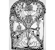 Treepose in tarot style Photographic Print