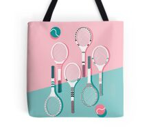 Got Served - tennis country club sports athlete retro throwback memphis 1980s style neon palm spring Tote Bag