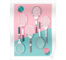 Got Served - tennis country club sports athlete retro throwback memphis 1980s style neon palm spring Poster