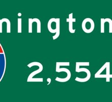 Wilmington, NC 2,554 mi, Road Sign, Barstow, California Sticker