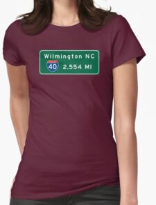 Wilmington, Road Sign, North Carolina T-Shirt