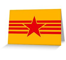Russia Catalonia communist flag red star Greeting Card