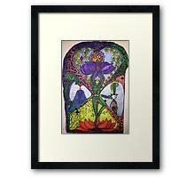 Treepose tarot style in color Framed Print