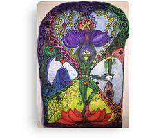 Treepose tarot style in color Canvas Print