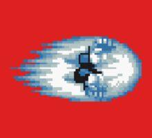 Street Fighter Hadouken Fireball pixel pattern One Piece - Short Sleeve