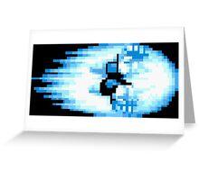Street Fighter Hadouken Fireball pixel pattern Greeting Card