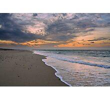 Sunset on Race Point Beach, Cape Cod National Seashore, Massachusetts Photographic Print