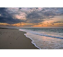 Sunset on Race Point Beach, Cape Cod National Seashore, Massachusetts Photographic Print