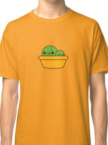 Cute cactus in yellow pot Classic T-Shirt