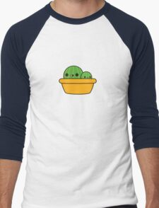 Cute cactus in yellow pot Men's Baseball ¾ T-Shirt
