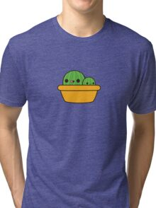 Cute cactus in yellow pot Tri-blend T-Shirt