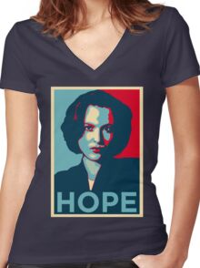 DANA SCULLY HOPE Women's Fitted V-Neck T-Shirt