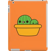 Cute cactus in yellow pot iPad Case/Skin