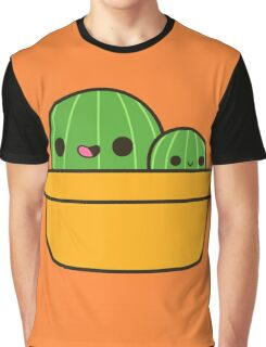 Cute cactus in yellow pot Graphic T-Shirt