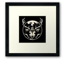 Deer Home Framed Print