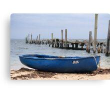 Jack the Rowboat, Provincetown Harbor, Massachusetts Canvas Print