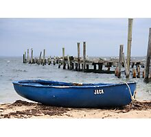 Jack the Rowboat, Provincetown Harbor, Massachusetts Photographic Print