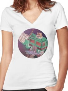 G1 Transformers Poster Women's Fitted V-Neck T-Shirt