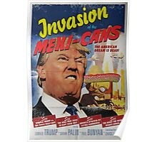 Donald Trump vs the Mexi-cans 1950's Movie poster Poster