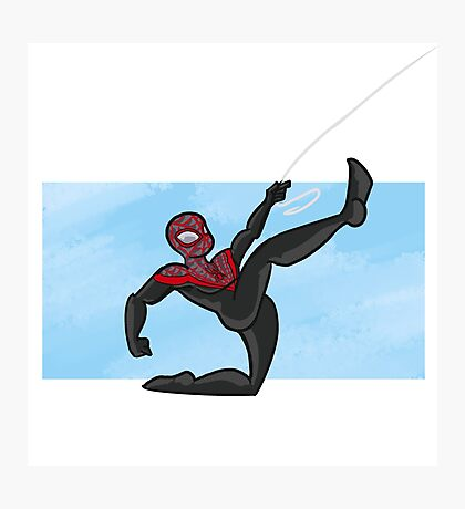 Spider-man- miles morales Photographic Print