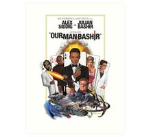 Star Trek DS9 - Deep Space Nine - 'Our Man Bashir' James Bond 007 Poster Art Print