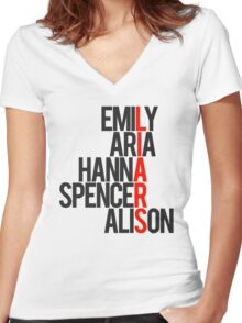 Pretty Little Liars Women's Fitted V-Neck T-Shirt